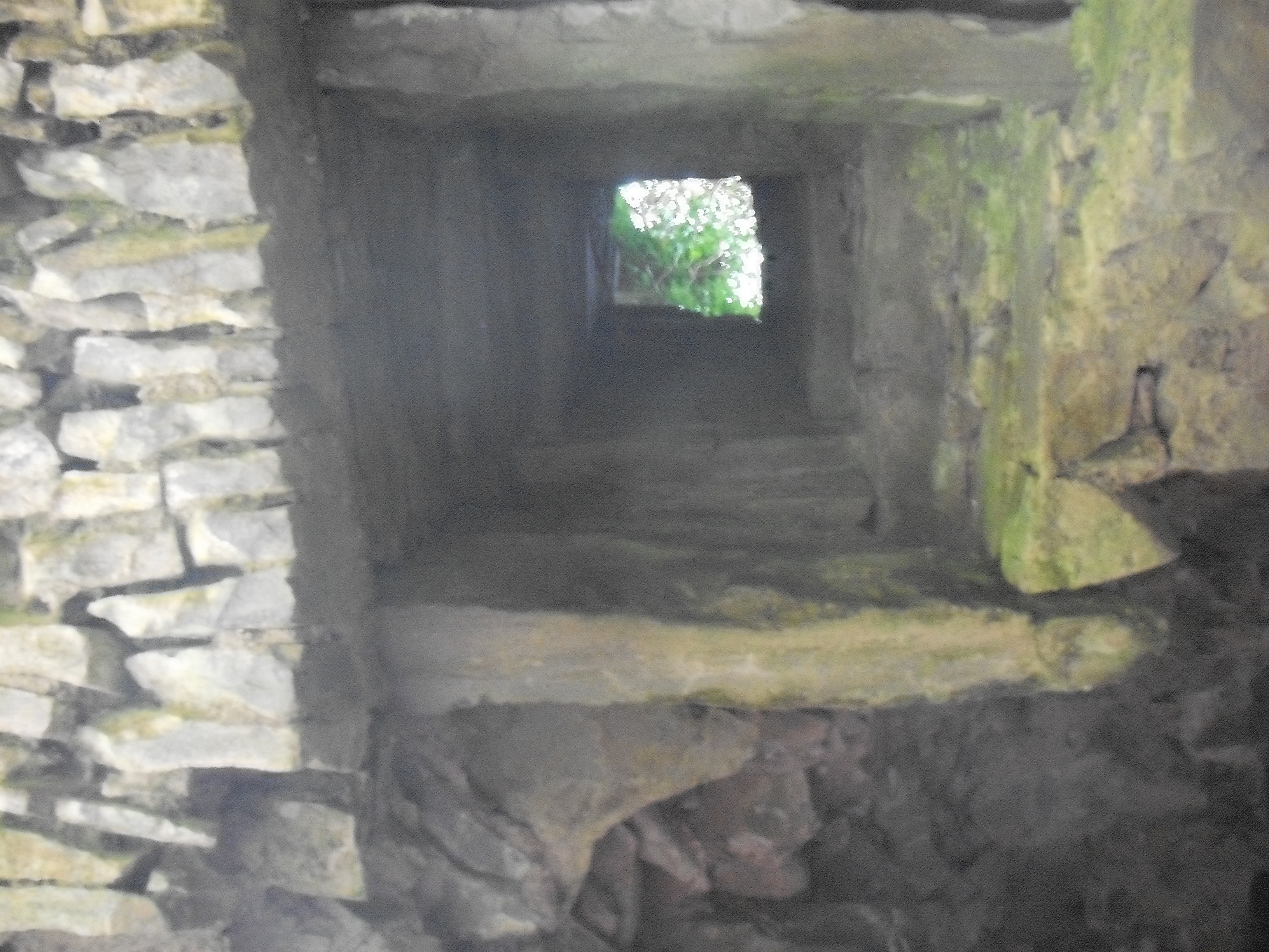 A view of the murder hole at Kilbreedy